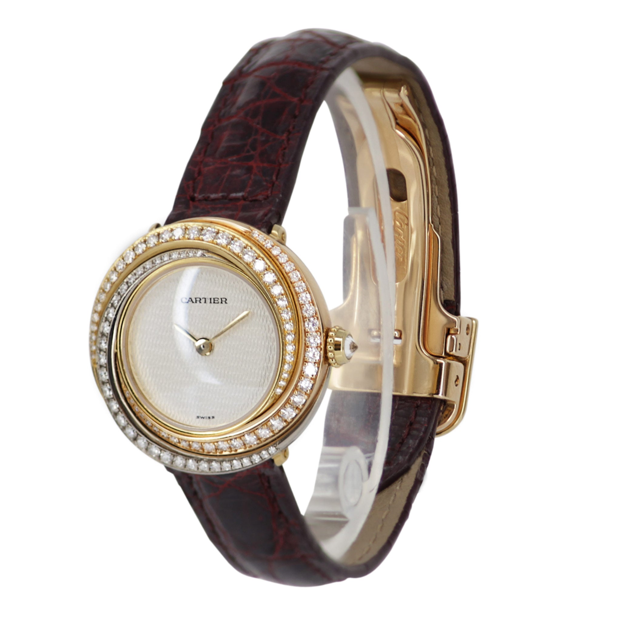 Cartier 18k Yellow Gold with Diamond Bezel Watch