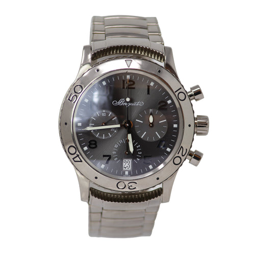 BREGUET 18k White Gold Type XX Chronograph Automatic Men's Watch