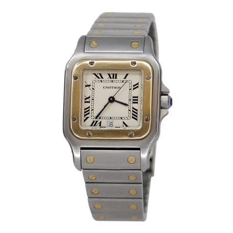 Cartier Santos Galbee 1566 Yellow Gold and Stainless Steel Watch