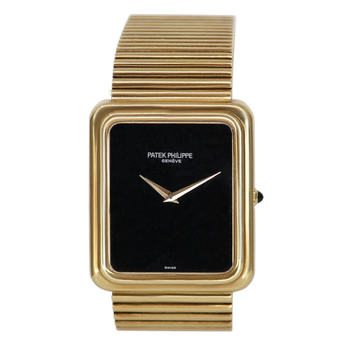PATEK PHILIPPE 3649 ONYX 18K Yellow Gold Watch