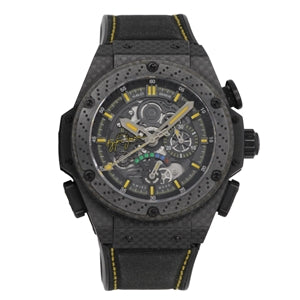 "Hublot Big Bang King Power ""Ayrton Senna"", Skeleton Dial, Limited Edition to 500 Pieces - Carbon Fiber on Strap"