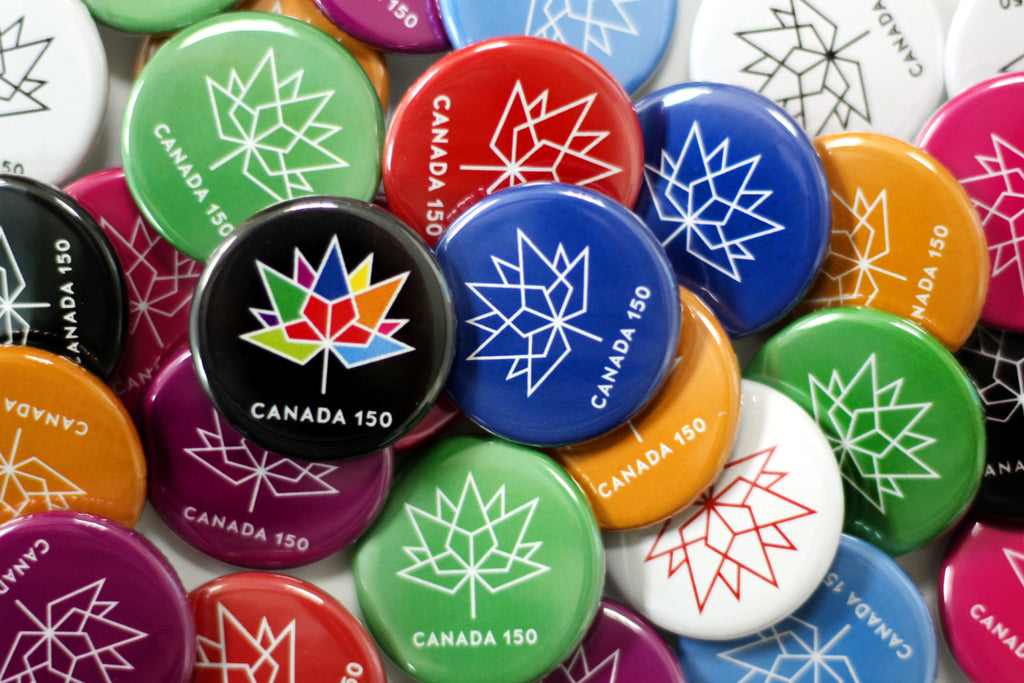 Canada 15 Multi Coloured Buttons from People Power Press