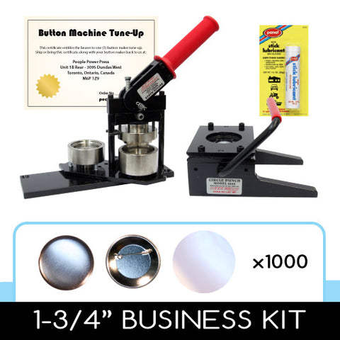 "1-3/4"" professional button maker kit with parts and supplies for 1.75"" buttons"