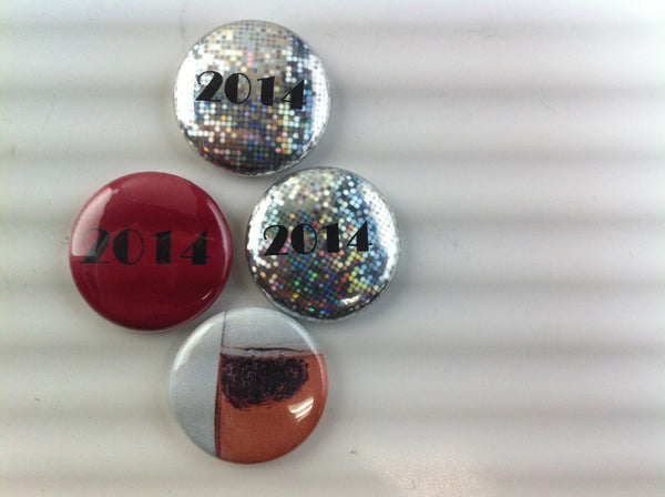 2014 New year's magnets and buttons