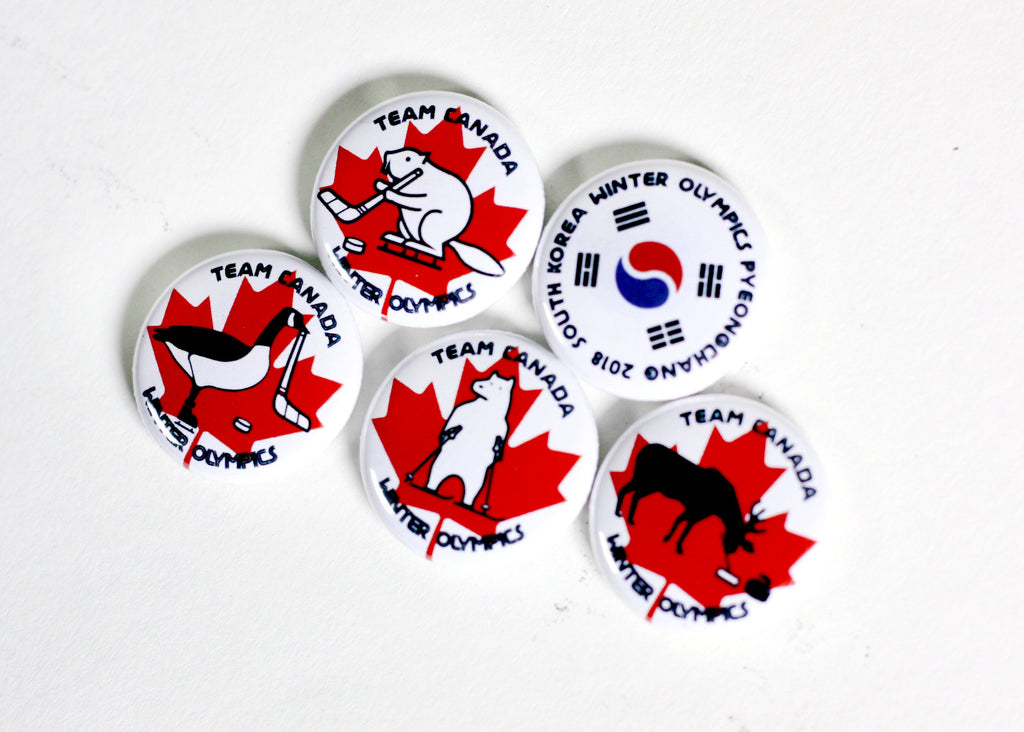 team canada winter olympic buttons