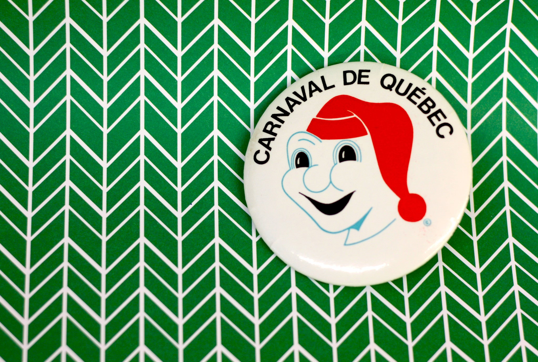 Vintage Button Archive, Canraval de Quebec Button, Bonhomme Carnaval