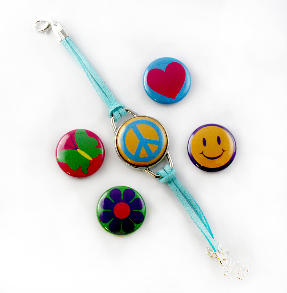 Magnetic Button Charm Bracelet, Artclix, Button Making Parts & Suplies by People Power Press,
