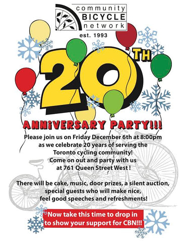 Community Bicycle Network 20th anniversary
