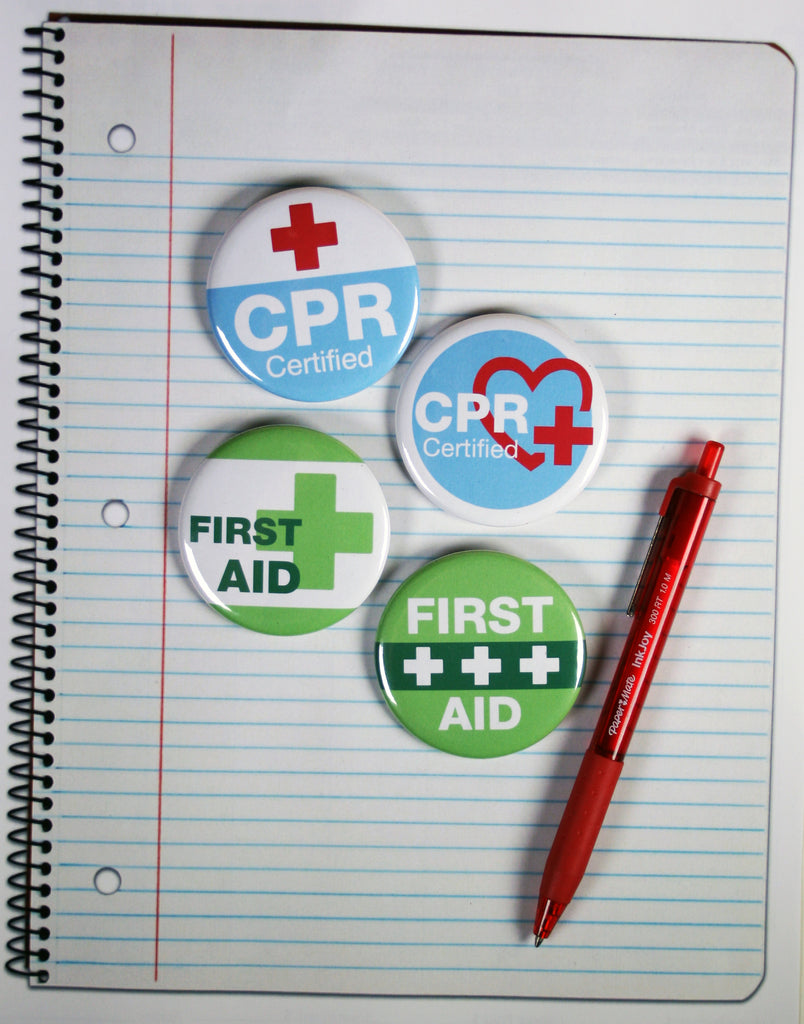 First Aid And Cpr Certified Buttons To Get Your Medical Message