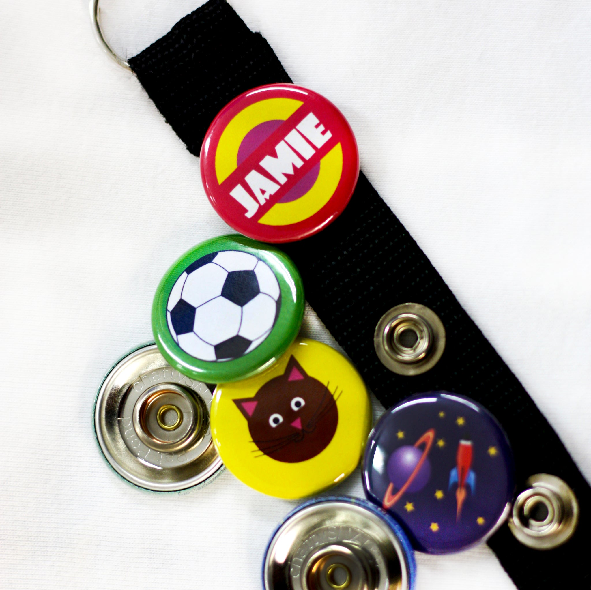ChattySnaps Interchangeable Button keychain