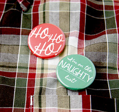 Christmas Custom Buttons from People Power Press