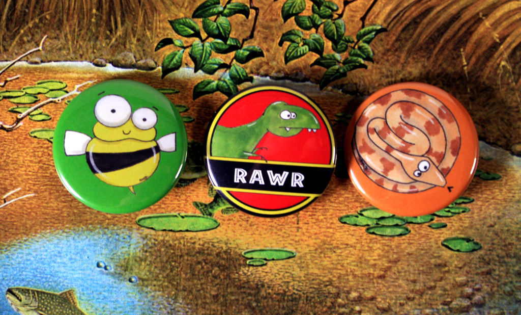 halifax comic buttons