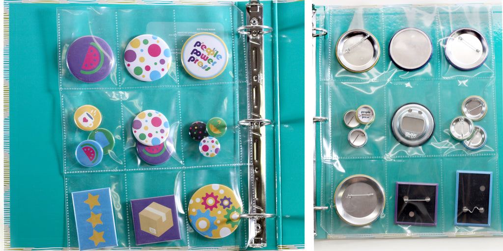 Button Display Binder Ideas on the People Power Press Blog