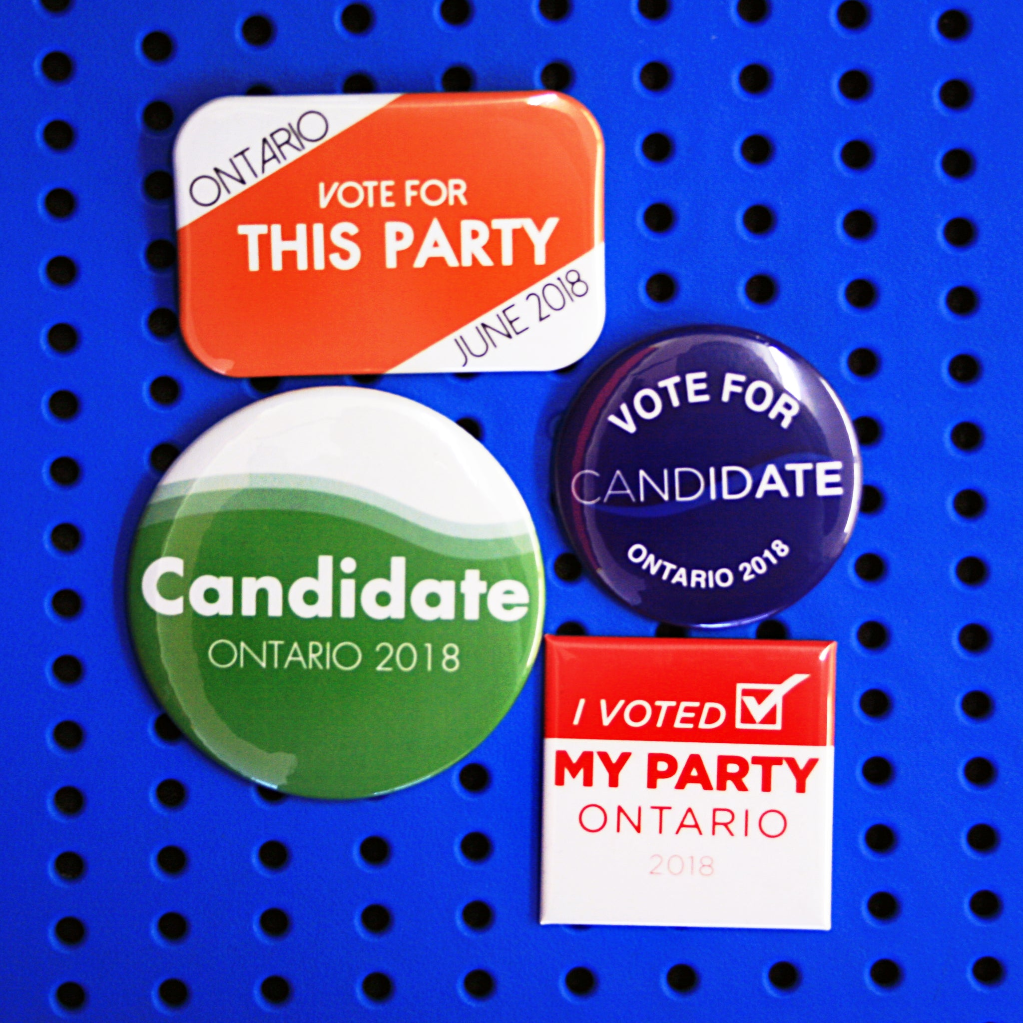 Campaign Buttons Ontario Federal Election 2018