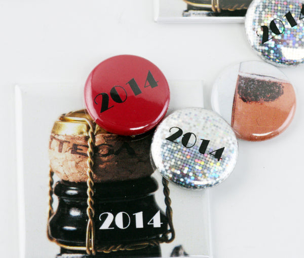 New Year's buttons