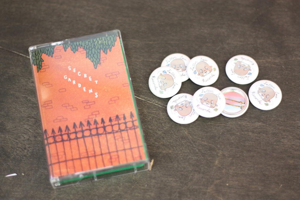 Fallen Love Records Secret Gardens release with button