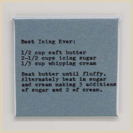 Recipe Fridge Magnet