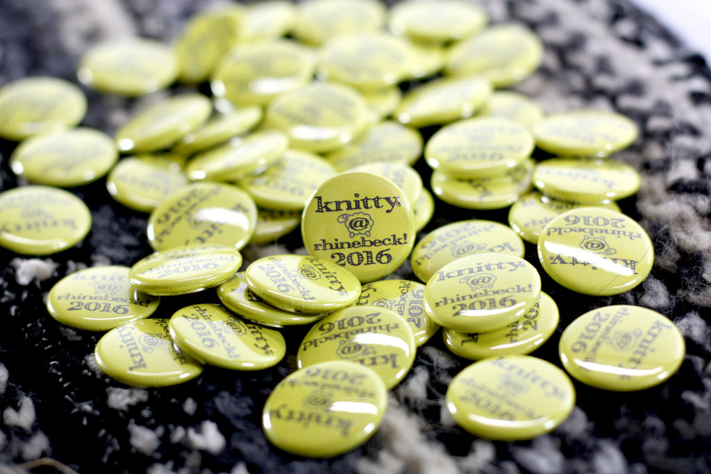 Promotional Buttons for Knitty Magazine by People Power Press