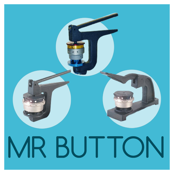 Mr Button Blue or Grey Hand Press Hand Held Button Maker