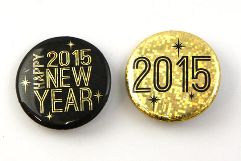 Custom Buttons for the New Year from People Power Press