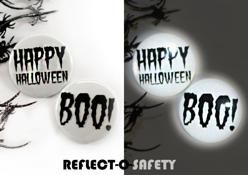 Glow in the Dark and Reflective Buttons for Halloween from People Power Press