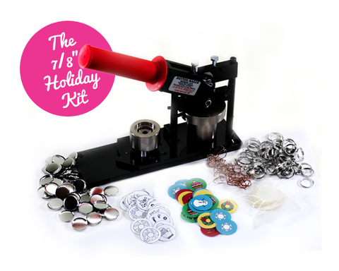 "7/8"" Mini Button Holiday Button Making Kit"