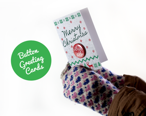 Button Holiday Greeting Cards