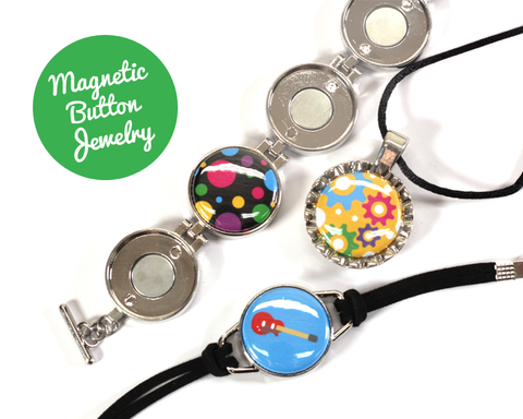 Personalized Magnetic Button Jewelry