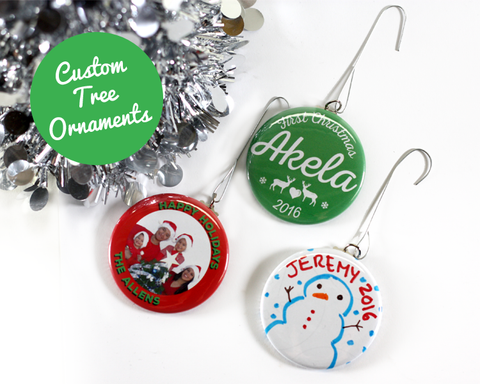 Custom Personalized Christmas Tree Ornaments