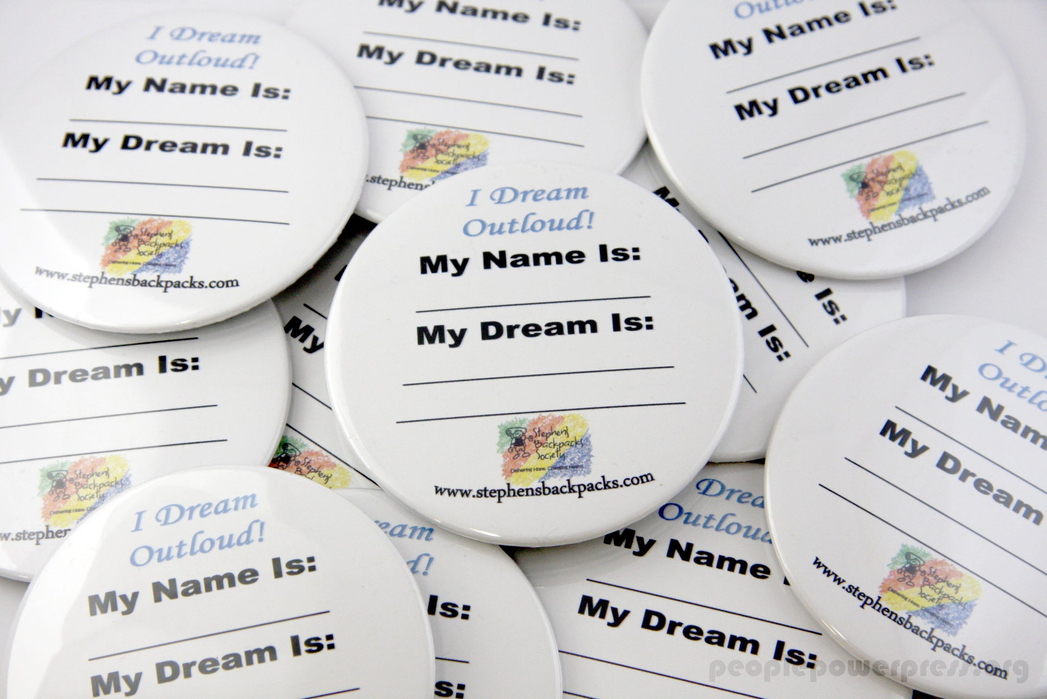 Dream Buttons, Custom Buttons by People Power Press, People Power Award 2016