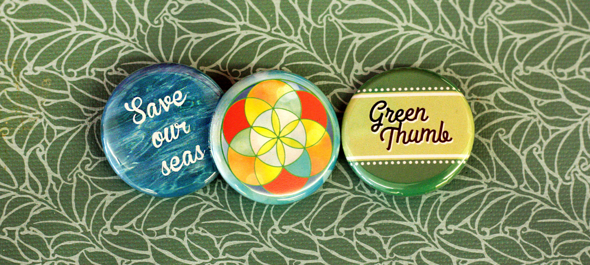 Pinback Button Accessories for Nature Enthusiast