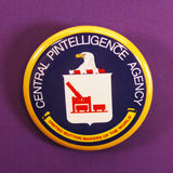 'Central Pintelligence Agency' Pinback inspired by CIA badge