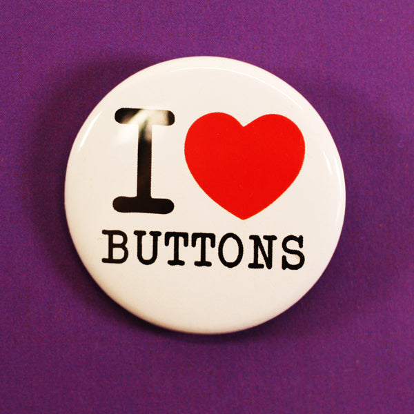 Pinback Button Classic I Love (Heart) Buttons
