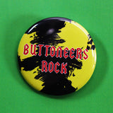 'Buttoneers Rock' Iron Maiden Heavy Metal inspired pin button