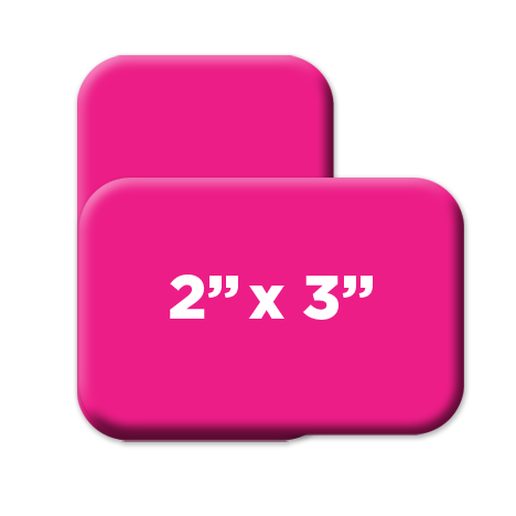 2 x 3 inch rounded rectangle custom buttons