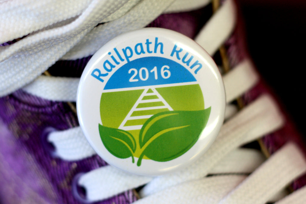 Sneaker Buttons for the Railpath Run from People Power Press
