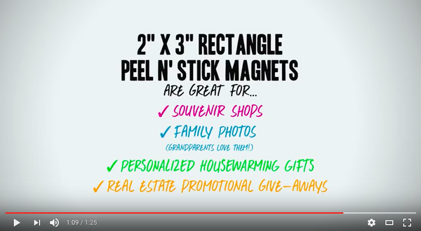 rectangle magnets for promotional giveaways and more!