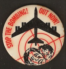 Vintage Vietnam War Pin-Back Button