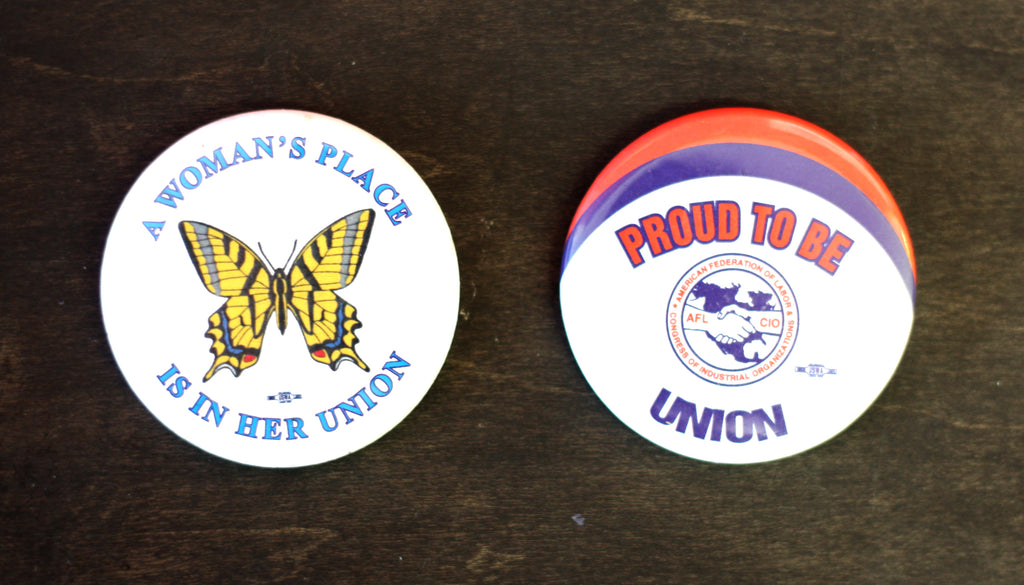 Retro Union Buttons Custom Buttons from People Power Press