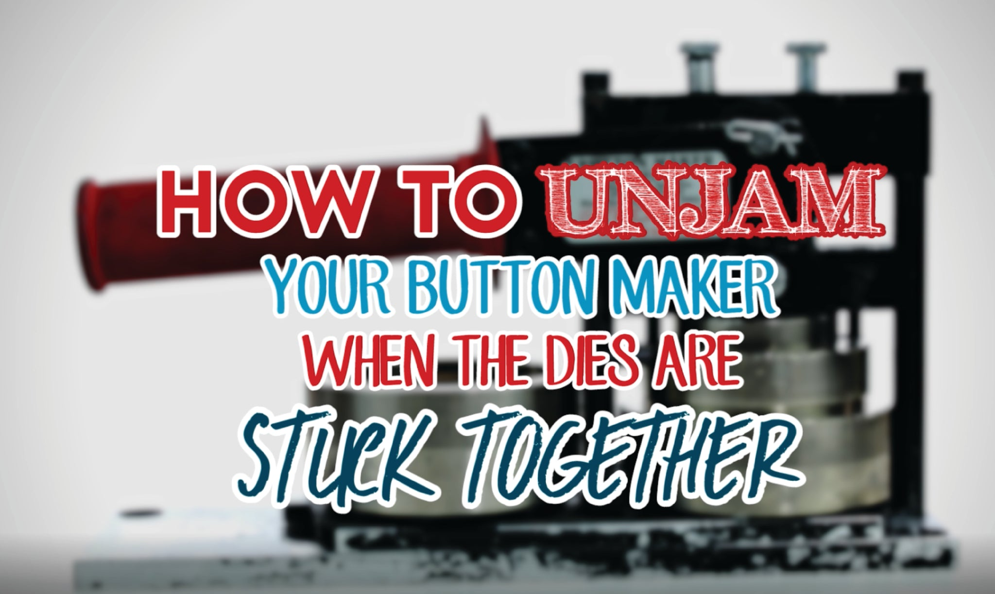 How to Unjam Your Button Maker, Button Guy Video, How-To Video, Button Making Parts & Supplies by People Power Press,