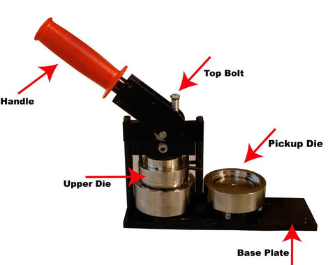 Image showing upper die in Tecre Button Maker