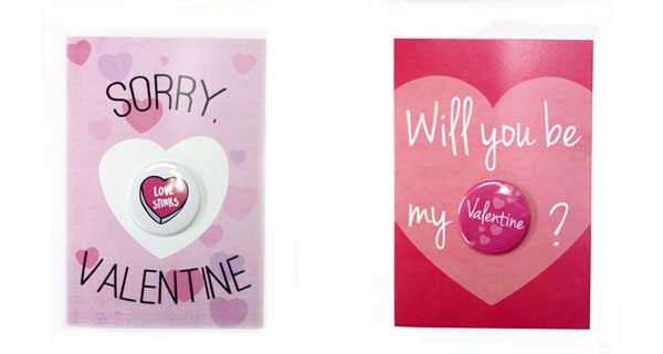 Button Greet Card Collection, Valentine's Day, Buttons for Valentines Day, Sweet and Sassy,