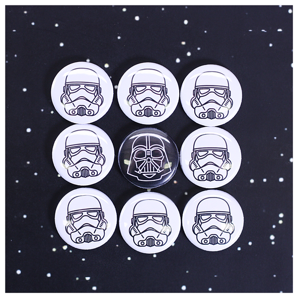 Starwars Darth Vader and Stormtrooper buttons