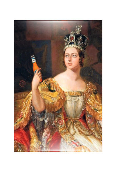 Queen victoria with a beer magnet