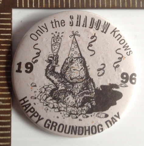 Groundhog day pins vintage