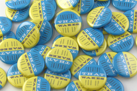 People Power Press custom buttons for Workshop West presents Canoe 2015