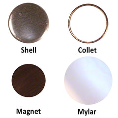Ceramic Magnets, Ceramic Magnets for Button Making, Everything for Ceramic Magnets, Ceramic Magnets by People Power Press,