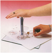 circle cutter for button making