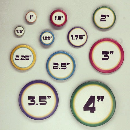 round button sizes