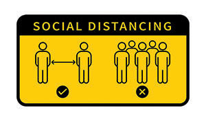 social distancing signage Covid-19